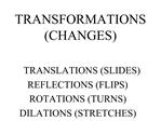 TRANSFORMATIONS CHANGES
