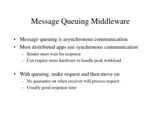 Message Queuing Middleware