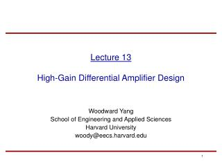 Lecture 13 High-Gain Differential Amplifier Design