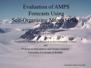 Evaluation of AMPS Forecasts Using Self-Organizing Maps (SOMs)