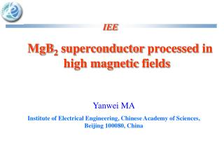 MgB 2  superconductor processed in  high magnetic fields