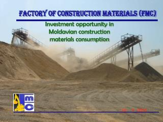 Investment opportunity in Moldavian construction materials consumption
