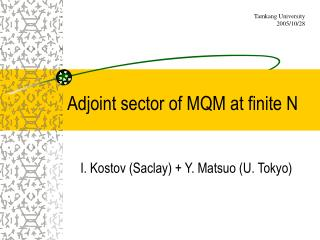 Adjoint sector of MQM at finite N