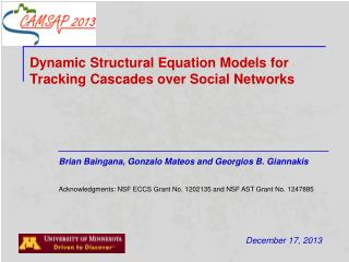 Dynamic Structural Equation Models for Tracking Cascades over Social Networks