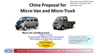 China Proposal for  Micro-Van and Micro-Truck