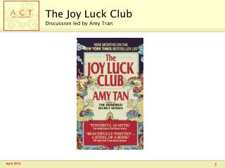 The Joy Luck Club Discussion led by Amy Tran