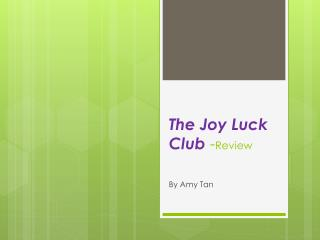 The Joy Luck Club  - Review
