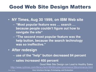 Good Web Site Design Matters