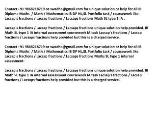 Lacsaps fractions IB Math SL portfolio Lacsaps fractions IA