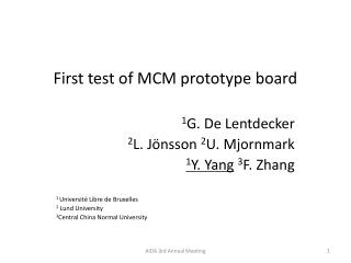 First test of MCM prototype board