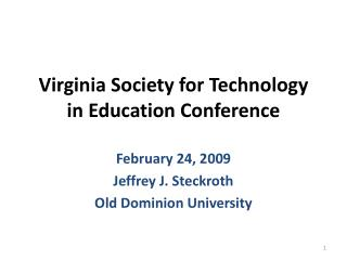 Virginia Society for Technology in Education Conference