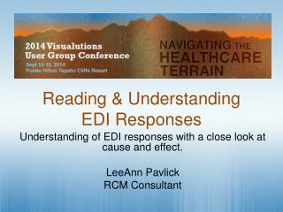 Reading &  Understanding  EDI Responses