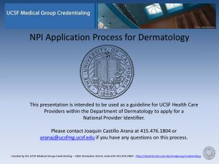 NPI Application Process for Dermatology