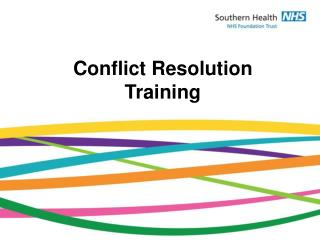 Conflict Resolution Training