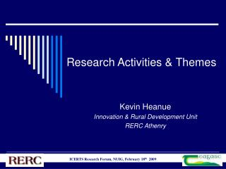 Research Activities & Themes