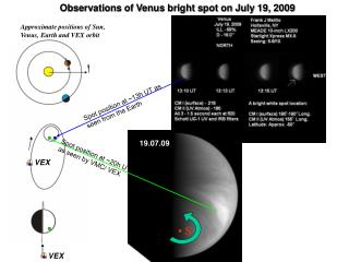 Observations of Venus bright spot on July 19, 2009