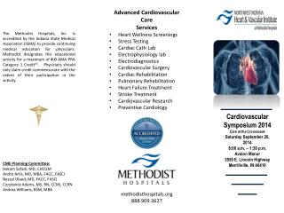 Cardiovascular Symposium 2014 Care at the Crossroads Saturday September 20, 2014