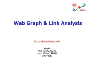Web Graph & Link Analysis