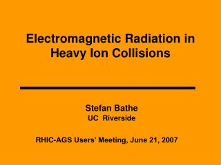 Electromagnetic Radiation in Heavy Ion Collisions