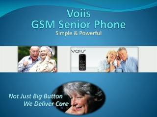 Voiis GSM Senior Phone