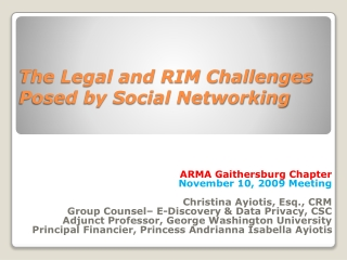 Social Networking Tools for Courts