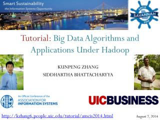 Tutorial :  Big Data Algorithms and Applications Under Hadoop