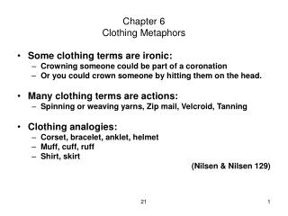 Chapter 6 Clothing Metaphors
