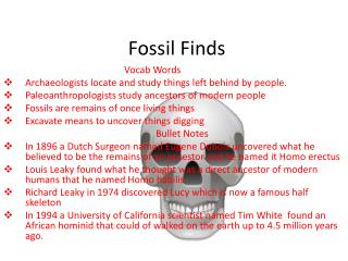 Fossil Finds