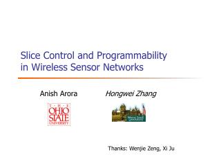 Slice Control and Programmability in Wireless Sensor Networks