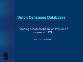 Dutch Censuses Databases