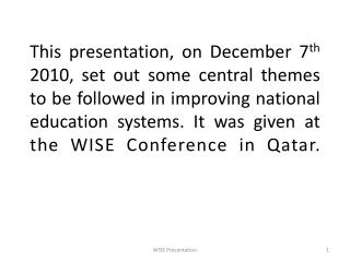 Learning from Reforms of National Education Systems