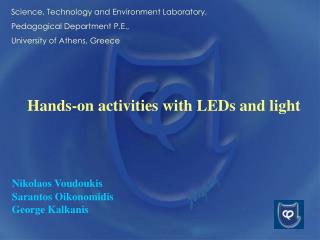 Hands-on activities with LEDs and light