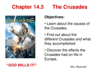 Chapter 14.3      The Crusades