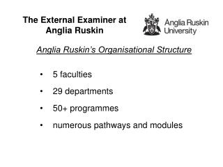 The External Examiner at Anglia Ruskin