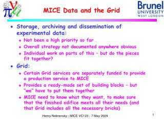 MICE Data and the Grid