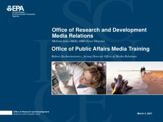 Office of Research and Development Media Relations