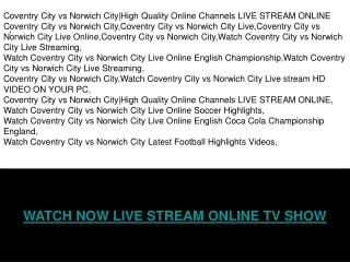 COVENTRY CITY vs NORWICH CITY LIVE & HIGHLIGHTS