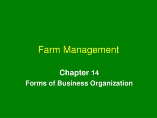 Farm Management
