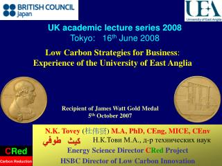 Low Carbon Strategies for Business : Experience of the University of East Anglia