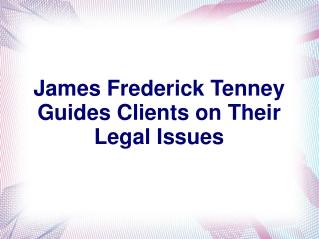 James Frederick Tenney