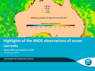 Highlights of the IMOS observations of ocean currents
