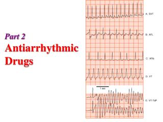 Part 2 Antiarrhythmic Drugs