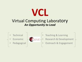 VCL Virtual Computing Labora tory An Opportunity to Lead