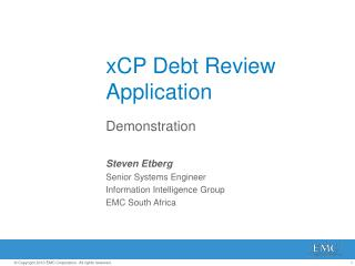 xCP Debt Review Application
