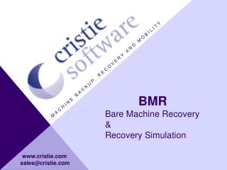 Machine backup, recovery and mobility