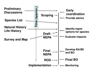 NEPA / ESA Timing:  The What and When