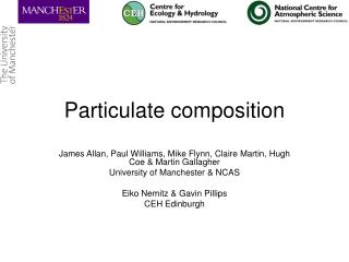 Particulate composition