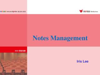 Notes Management