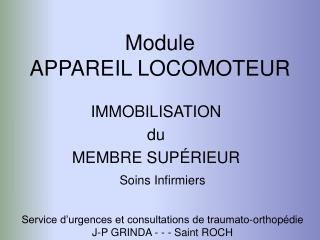 Module APPAREIL LOCOMOTEUR