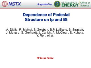 Dependence of Pedestal  Structure on Ip and Bt